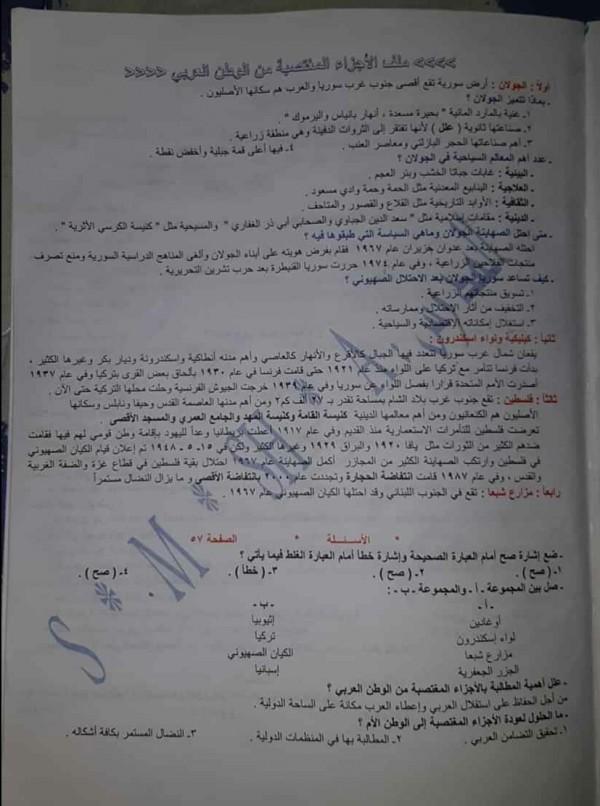 حل درس موقع الوطن العربي واهميته